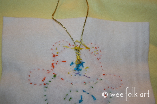 tedd bear ornament - attach hanger 545wm