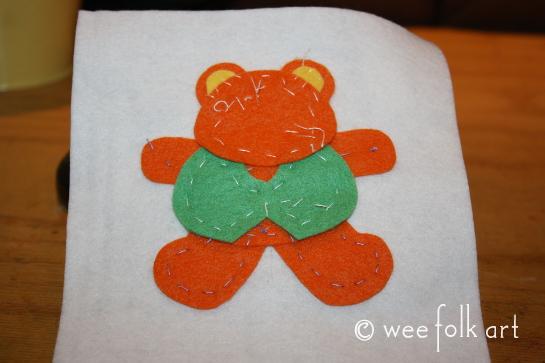 tedd bear ornament - baste 545wm