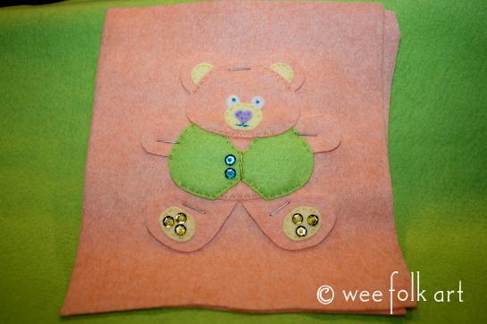 tedd bear ornament - baste pastel 545wm