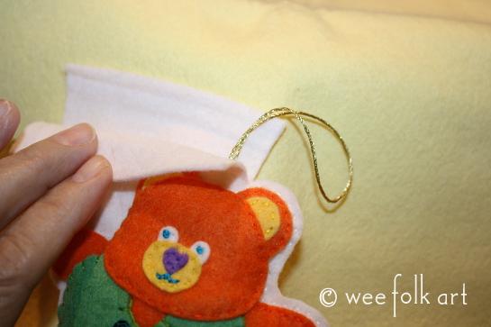 tedd bear ornament - cut out 1 545wm