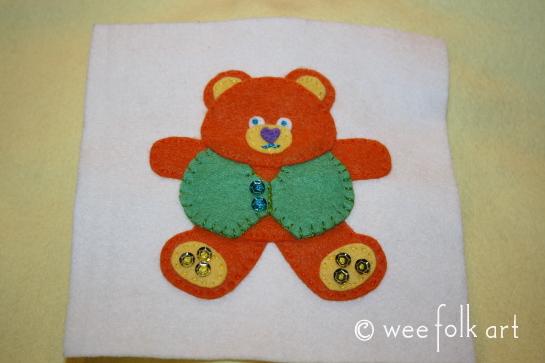 tedd bear ornament - embellish 545wm