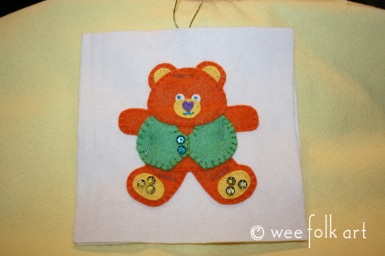 tedd bear ornament - staple together 545wm
