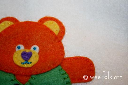 teddy bear ornament - sew edge 545wm