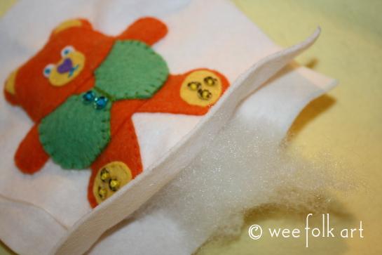 teddy bear ornament - stuff bear 545wm