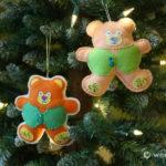 Santa's Workshop Teddy Bear Ornament