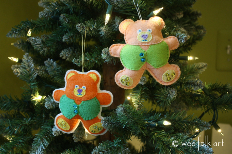 teddy bear ornaments - done 1 740wm