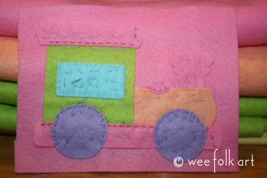 toy train ornament - baste pastel 545wm