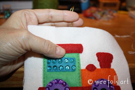 toy train ornament - sew together 545wm