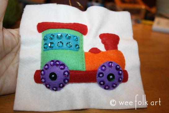 toy train ornament - stuffed done 545wm