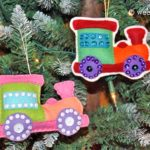 Santa's Workshop Toy Train Ornaments