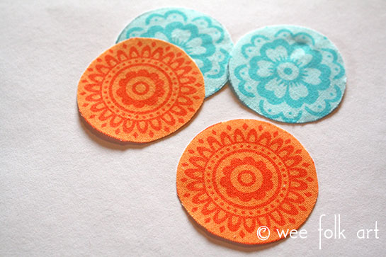 fabric button tutorial cut-out fabric