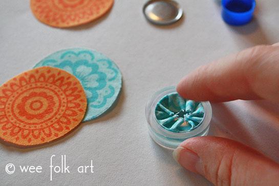 fabric button tutorial fold edges
