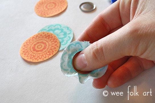 fabric button tutorial insert shell