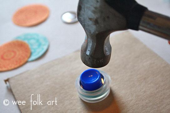fabric button tutorial hammer