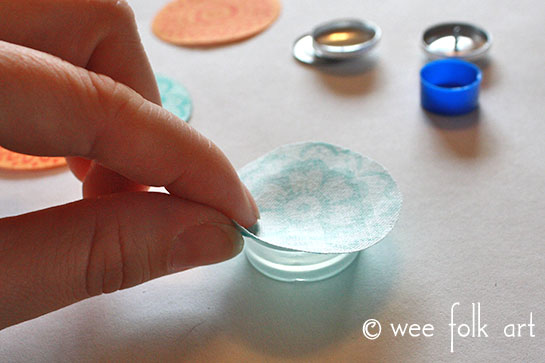 fabric button tutorial placing fabric