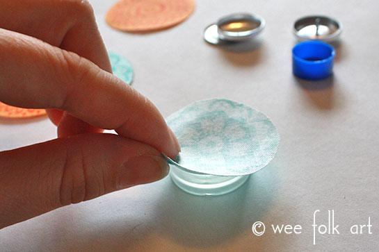 Fabric Button Tutorial - Wee Folk Art