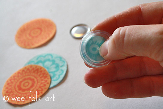 fabric button tutorial pop-out