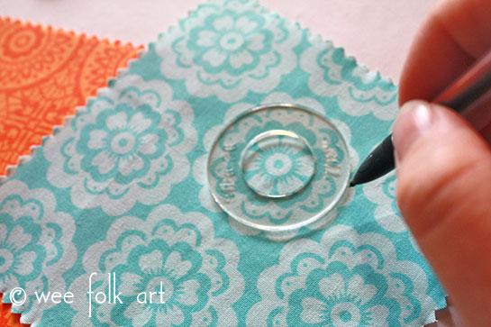 fabric button tutorial trace template