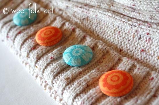fabric button sweater dress up
