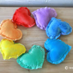 Valentine Craft: Puffy Hearts Wall Hanging