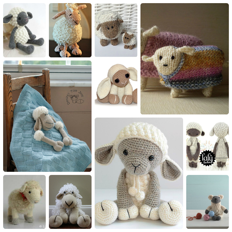 Sheep knit and crochet patterns wee folk art if you plan to knit or crochet gifts for easter yep i said easter it really isnt too early to start planning there are a handful of animals that make negle Gallery