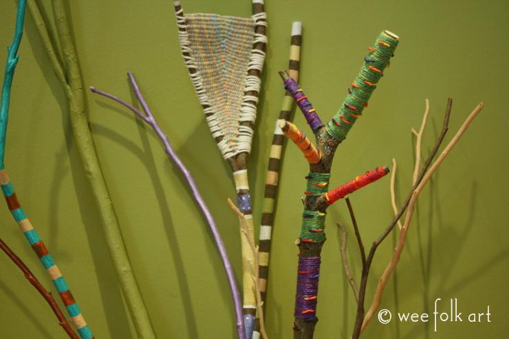 Yarn Wrapped Branches Wee Folk Art