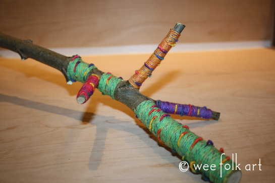 yarn wrapped branches -7wm