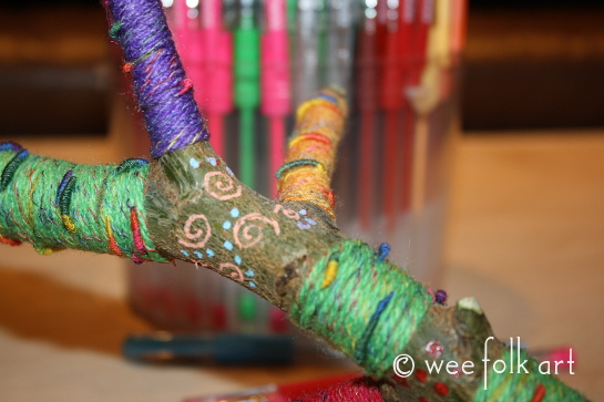 yarn wrapped branches -8wm