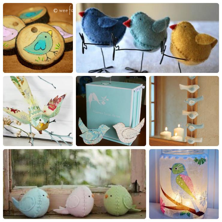 bird craft Collage