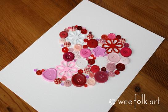 button heart picture tutorial glue 2 545wm
