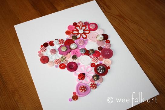 button heart picture tutorial glue 3 545wm