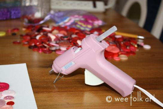 button heart picture tutorial glue gun 545wm