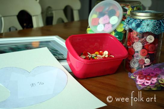 button heart picture tutorial supplies 545wm