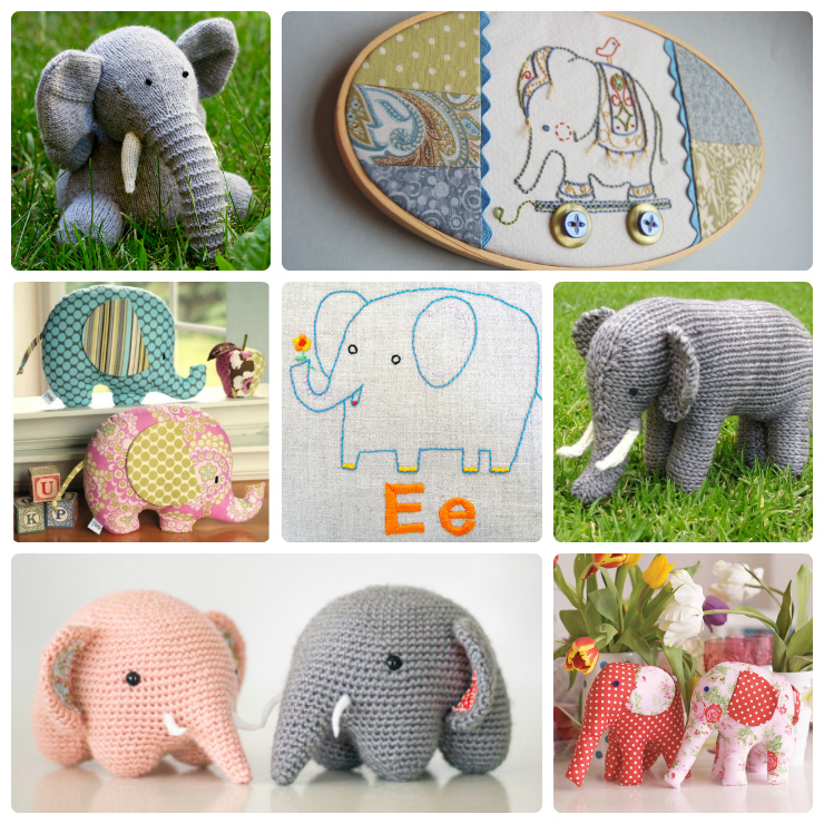 Elephant Patterns for Everyone! - Wee Folk Art