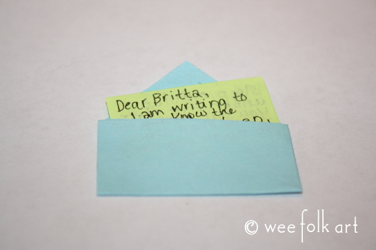 miniature envelope tutorial letter2 545wm