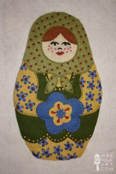 Russian nesting dolls applique