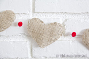 valentine craft burlap garland