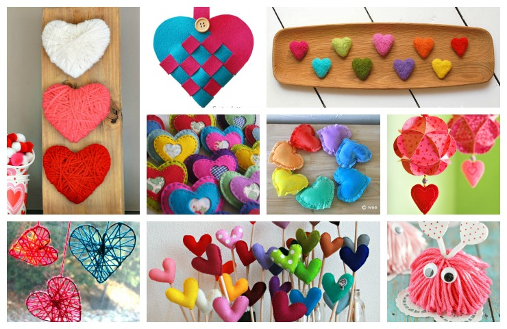 valentine craft idea collage