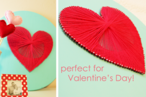 valentine craft sting art