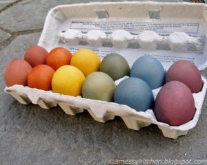 amessykitchen brown easter egg dye