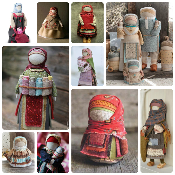russian rag dolls Collage