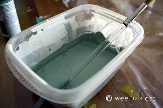 seaside gnome house paint green 545wm