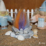 Seaside Gnome Driftwood Campfire