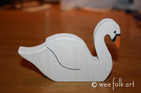 wooden swans 3 545wm