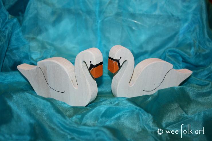 wooden swans 4 740wm