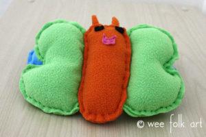 toy butterfly sewing pattern orange