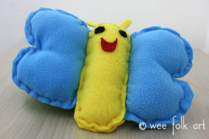 toy butterfly sewing pattern yellow