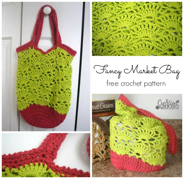 Fancy Market Bag FREE crochet pattern cre8tioncrochet