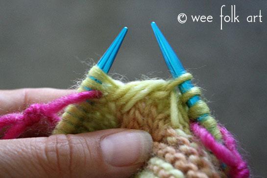 knit butterfly stitch body stitch 3b