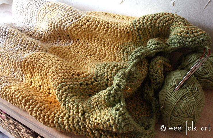 Ombre Waves Knit Blanket Pattern